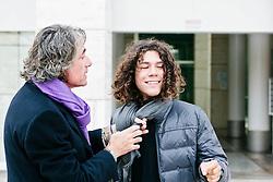 23 FEB 2012 - Castelfranco Veneto (TV) - Franco Antonello, imprenditore ed editore, con il figlio diciottenne Andrea, autistico, presso la sede della Fondazione I Bambini delle Fate