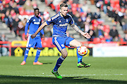 Cardiff City midfielder, Joe Ralls (8) during the Sky Bet Championship match between Bristol City and Cardiff City at Ashton Gate, Bristol, England on 5 March 2016. Photo by Shane Healey.