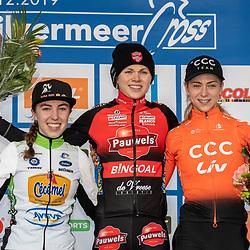 2018-12-01: Cycling: Zilvermeercross Mol: Laura Verdonshot wins in Mol, Lindy van Aanroij finished second ahead of Inge van der Heijden