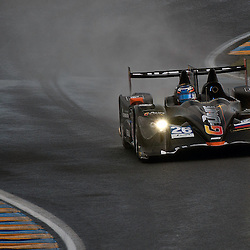 LMP2-G-DRIVE RACING, Oreca 03 - Nissan, Drivers, Roman Rusinov (RUS), John Martin (AUS), Mike Conway (GBR).<br /> Image taken during free practice and qualifying at the 90th Le Mans 24hrs at the Circuit de la Sarthe, Le Mans, France on the 20th June 2013.<br /> <br /> WAYNE NEAL | SPORTPIX.ORG.UK