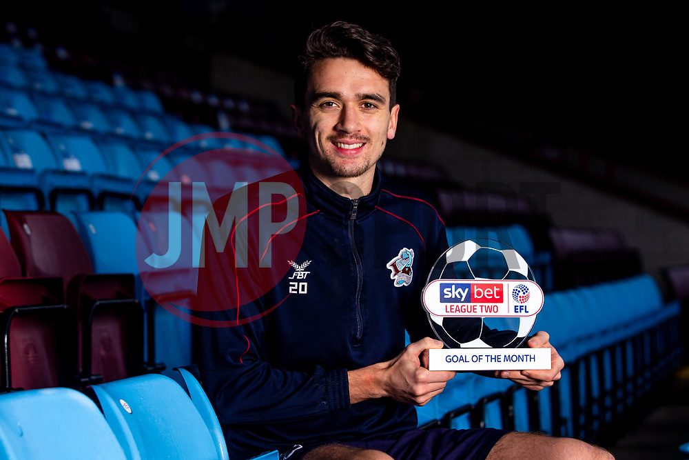 Alex Gilliead of Scunthorpe United wins the Sky Bet League Two Goal of the Month award - Mandatory by-line: Robbie Stephenson/JMP - 18/12/2019 - FOOTBALL - Glanford Park - Scunthorpe, England - Sky Bet Goal of the Month Award