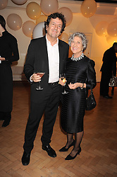 JOAN BURSTEIN the legendary owner of the Browns boutiques and her son SIMON BURSTEIN at Vogue's Fantastic Fashion Fantasy Party in association with Van Cleef & Arpels to celebrate Vogue's Secret Address Book held at One Marylebone Road, London NW1 on 3rd November 2008.