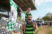 FGR supporters during the EFL Sky Bet League 2 match between Forest Green Rovers and Grimsby Town FC at the New Lawn, Forest Green, United Kingdom on 5 May 2018. Picture by Shane Healey.