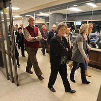 Some area residents, city officials and hospital employees, tour the emergency room of the new Baptist Hospital in Oxford on Wednesday morning. THe new 300 million dollar hospital will officially open on Saturday November 25.