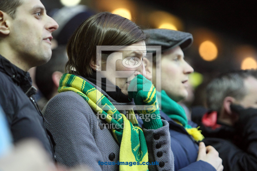 Leeds - Saturday February 19th, 2011: The Norwich fans feel the tension during the Npower Championship match at Elland Road, Leeds. (Pic by Paul Chesterton/Focus Images)