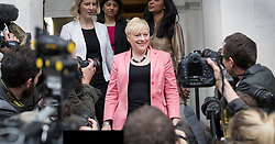 © Licensed to London News Pictures. 11/07/2016. London, UK. Labour MP Angela Eagle arrives to launch her leadership bid. Party leader Jeremy Corbyn says he will stand again in any challenge. Photo credit: Peter Macdiarmid/LNP