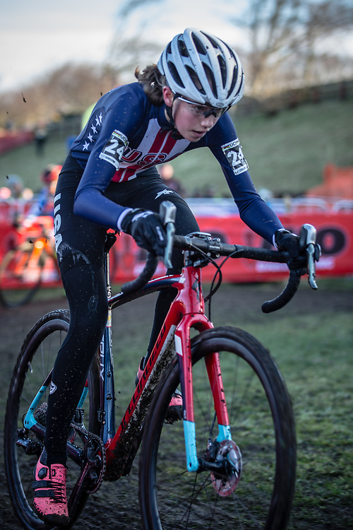 Madigan MUNRO (USA)  at the 2019 UCI Cyclo-Cross World Championships in Bogense, Denmark