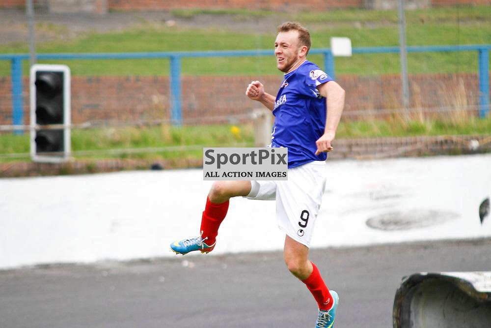 Cowdenbeath FC V Forfar Athletic, Scottish League 1, 19th September 2015<br /> <br /> Cowdenbeath FC V Forfar Athletic, Scottish League 1, 19th September 2015<br /> <br /> COWDENBEATH #9 GREIG SPENCE CELEBRATIONS