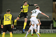 Conor Shaughnessy of Burton Albion (16) gets above Sam Long of Oxford United (12) during the EFL Sky Bet League 1 match between Burton Albion and Oxford United at the Pirelli Stadium, Burton upon Trent, England on 11 February 2020.