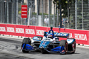 Takuma Sato from Japan,  Rahal Letterman Lanigan Racing, Honda,, action, track, piste,  INDY car race, TORONTO race in the  Streets of Toronto - Ontario, Canada,   Fee liable image, Copyright © ATP Marcel LANGER