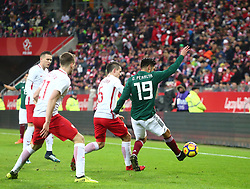 November 13, 2017 - Gdansk, Poland - Oribe Peralta during the international friendly soccer match between Poland and Mexico at the Energa Stadium in Gdansk, Poland on 13 November 2017  (Credit Image: © Mateusz Wlodarczyk/NurPhoto via ZUMA Press)