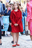 Princess Sofia attended the Easter Mass at the Cathedral of Palma de Mallorca on April 16, 2017 in Palma de Mallorca, Spain.