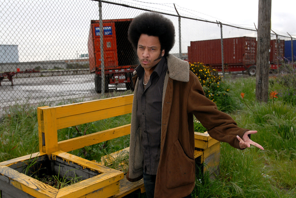 Boots Riley of the Coup, photographed in his hometown, Oakland, California.