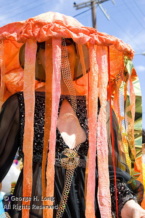 Eugenia Uhl at Mardi Gras in the French Quarter and Faubourg Marigny of New Orleans