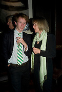 MATHEW BELL AND EMILY REED, The launch of the new James Bond book Devil May Care, by Sebastian Faulks. 27 May at FIFTY, St James. London *** Local Caption *** -DO NOT ARCHIVE-© Copyright Photograph by Dafydd Jones. 248 Clapham Rd. London SW9 0PZ. Tel 0207 820 0771. www.dafjones.com.