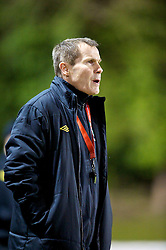 NEWTOWN, WALES - Friday, February 1, 2013: Wales' manager Jarmo Matikainen during the Women's Under-19 International Friendly match against Norway at Latham Park. (Pic by David Rawcliffe/Propaganda)