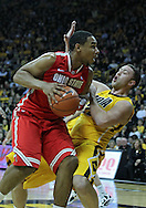 January 07, 2011: Ohio State Buckeyes forward Jared Sullinger (0) drives against Iowa Hawkeyes forward Andrew Brommer (20) during the the NCAA basketball game between the Ohio State Buckeyes and the Iowa Hawkeyes at Carver-Hawkeye Arena in Iowa City, Iowa on Saturday, January 7, 2012.