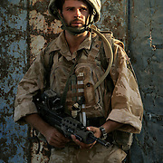 8th July 2007.Kajaki, Helmand Province, Afghanistan.Lance Corporal Andrew Howe (27) of 1 Royal Anglian C Coy on patrol in the Taliban infested region of Kajaki, Helmand Province, Afghanistan on the 8th of July 2007.