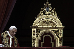 Pope Benedict XVI celebrates Christmas Eve mass at St. Peter s Basilica to mark the nativity of Jesus Christ, in Vatican City, Italy, December 24, 2012. Photo by Imago / i-Images...UK ONLY