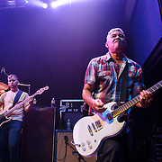 "WASHINGTON, DC - May 5th, 2014 - Nate Mendel and Pat Smear of the Foo Fighters perform at the 9:30 Club in Washington D.C. as part of the birthday celebration for Big Tony of Trouble Funk.  The band performed as surprise guests and played a set full of hits such as ""My Hero"" and ""These Days."" (Photo by Kyle Gustafson / For The Washington Post)"