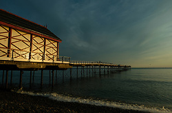 © Licensed to London News Pictures. <br /> 11/08/2017. <br /> Saltburn by the Sea, UK.  <br /> <br /> The Victorian Pier at sunrise in the North Yorkshire coastal town of Saltburn by the Sea.<br />   <br /> Photo credit: Ian Forsyth/LNP