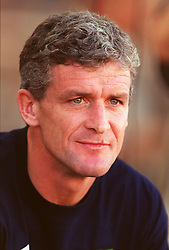 MINSK, BELARUS - Saturday, September 4, 1999: Wales' new manager Mark Hughes before the UEFA Euro 2000 Qualifying Group One match against Belarus at the Dinamo Stadium. (Mandatory credit: David Rawcliffe/Propaganda)