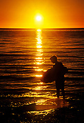 Boogie board sunset.