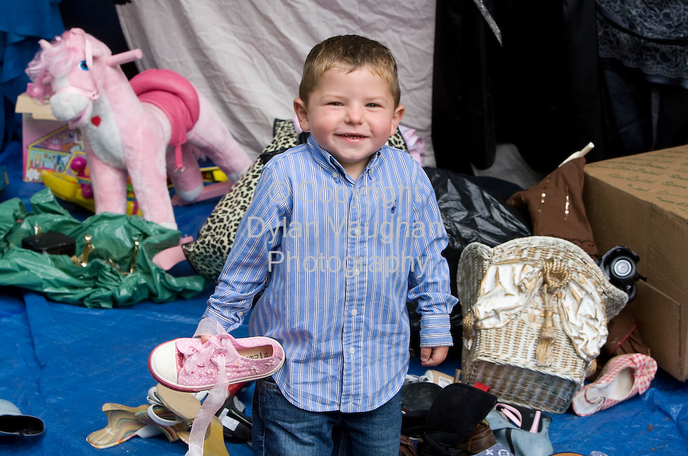 15/8/2008.Gerry Moloney aged 2 from Newbridge county Kildare pictured at the Borris Horse Fair in County Carlow yesteday..Picture Dylan Vaughan