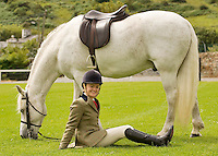 Emma O Toole  from Sky Road Clifden with Cashelbay Joe at the showgrounds in Clifden at the launch of the 2011 Connemara Pony Festival will run from Sunday 14th August to Sunday 21st August. The festival is built around the world renowned Connemara Pony Show which takes place on Thursday 18th August and Friday 19th August. A number of new events have been added to the schedule of events for 2011. These include a historic bus tour, a best dressed lady competition and the Clifden High Performance Class. Photo:Andrew Downes. Photo issued with compliments, no reproduction fee.