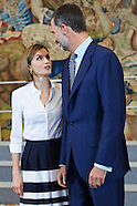 071715 Spanish Royals Receive 'Becas Europa' Participants of Francisco de Vitoria University