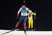 PYEONGCHANG-GUN, SOUTH KOREA - FEBRUARY 12: Thingnes Boe Johannes of Norway during the Mens Biathlon 12.5km Pursuit at Alpensia Biathlon Centre on February 12, 2018 in Pyeongchang-gun, South Korea. Photo by Nils Petter Nilsson/Ombrello               ***BETALBILD***