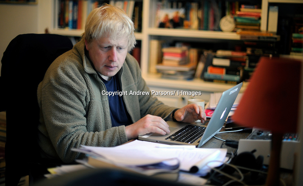 boris johnson writing his speech