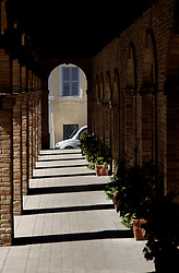 Italian walkway loggia in the sunshine