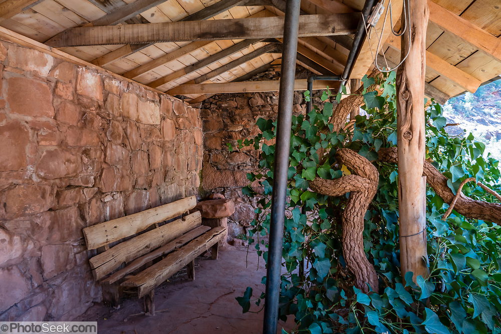 Santa Maria Spring shade house on  Hermit Trail. Grand Canyon National Park, Arizona, USA.