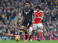 Football - 2016 / 2017 Premier League - Arsenal vs. Hull City<br /> <br /> Tom Huddlestone of Hull at The Emirates.<br /> <br /> COLORSPORT/ANDREW COWIE