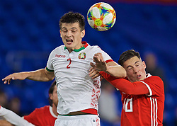 CARDIFF, WALES - Monday, September 9, 2019: Wales' Harry Wilson (R) and Belarus' Stanislaw Drahun during the International Friendly match between Wales and Belarus at the Cardiff City Stadium. (Pic by David Rawcliffe/Propaganda)