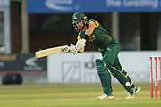 Dan Christian of Nottinghamshire during the Natwest T20 Blast North Group match between Derbyshire County Cricket Club and Nottinghamshire County Cricket Club at the 3aaa County Ground, Derby, United Kingdom on 13 July 2018. Picture by Mick Haynes.