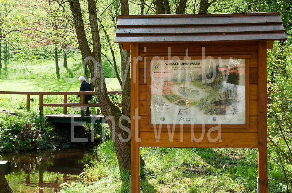Flusslehrpfad Sieber, Harz, Niedersachsen, Deutschland | river Sieber nature trail, Harz, Lower Saxony, Lower Saxony, Germany