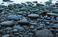 A rocky beach on the big Island of Hawaii, in the Waipi'o Valley