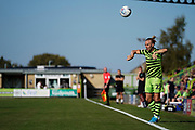 Joseph Mills of Forest Green Rovers takes a throw in during the EFL Sky Bet League 2 match between Forest Green Rovers and Stevenage at the New Lawn, Forest Green, United Kingdom on 21 September 2019.