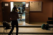 Teachers and people related to the institute Thos i Codina of Mataró (Barcelona), have enclosed the weekend before the referendum, to keep the site open until Sunday 1-O, as an electoral college. Under the police threat of sealing the school, the schools have made a general call to occupy the schools organizing different activities. Every 12 hours the police visited each school, writing minutes of the occupation. The firefighters of Mataró with the Union of Peasants have visited all the schools of Mataró to remember people that they have the right to vote. Photo: Eva Parey/4SEE