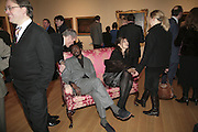 Yinka Shonibare and Maxa Zoller, Hogarth private view and dinner. Tate Britain. London. 5 February 2007.  -DO NOT ARCHIVE-© Copyright Photograph by Dafydd Jones. 248 Clapham Rd. London SW9 0PZ. Tel 0207 820 0771. www.dafjones.com.