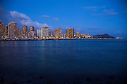 Twilight, Waikiki, Oahu, Hawaii