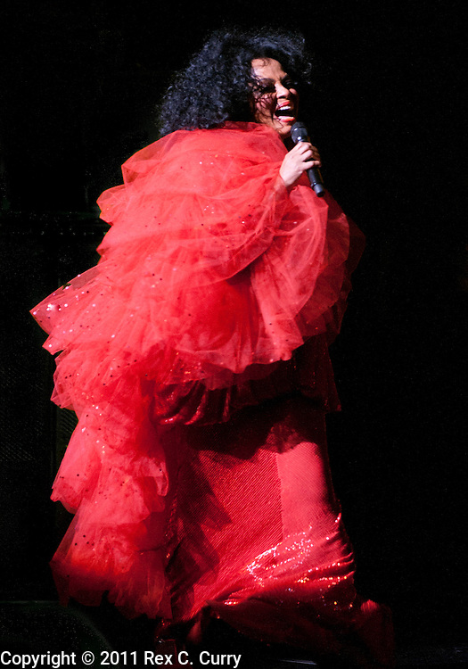 Diana Ross performing at the Majestic Theatre on March 3, 2011.