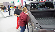 Phil and Annette Schiebel, Mukwonago looks at the Ram 2500 truck.