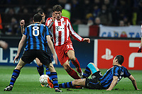 "Thiago Motta Inter, Mario Gomez Bayern, Lucio Inter<br /> Roma 23/02/2011 Stadio ""Giuseppe Meazza - San Siro""<br /> Calcio - Champions League<br /> Inter Vs Bayern Munich / Inter Vs Bayern Monaco<br /> Foto Andrea Staccioli Insidefoto"