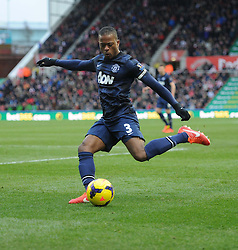 Manchester United's Patrice Evra - Photo mandatory by-line: Alex James/JMP - Tel: Mobile: 07966 386802 01/02/2014 - SPORT - FOOTBALL - Britannia Stadium - Stoke-On-Trent - Stoke v Manchester United - Barclays Premier League