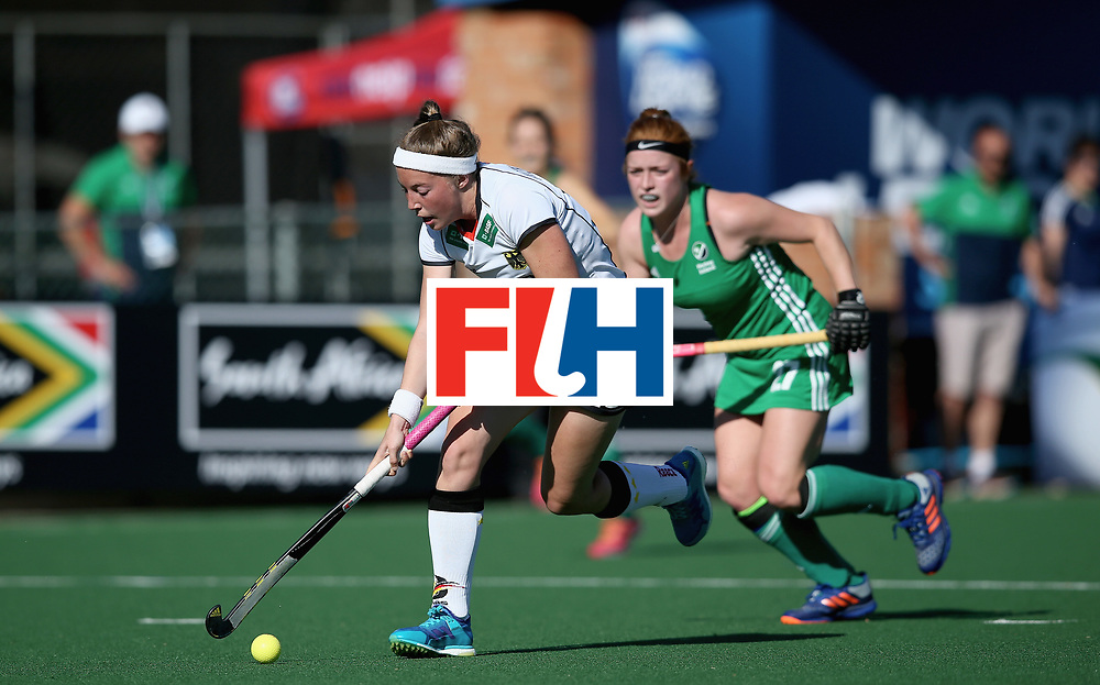 JOHANNESBURG, SOUTH AFRICA - JULY 10: Teresa Martin Pelegrina of Germany in action during day 2 of the FIH Hockey World League Semi Finals Pool A match between Germany and Ireland at Wits University on July 10, 2017 in Johannesburg, South Africa. (Photo by Jan Kruger/Getty Images for FIH)