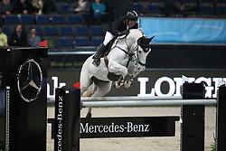 Schroder Gerco, (NED), Glocks Cognac Champblanc<br /> Prize of Raumpflege Jumping<br /> Stuttgart - German Masters 2015<br /> © Hippo Foto - Stefan Lafrentz