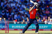 England T20 batsman Alex Hales plays the ball square  during the International T20 match between England and India at Old Trafford, Manchester, England on 3 July 2018. Picture by Simon Davies.